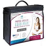 My Lovely Bed - Protège Oreiller 50x70cm - Tissu Coolmax® : Régule la Transpiration - Frais, Doux et Respirant - Fermeture à Rabat - Forme Rectangulaire