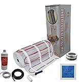 Nassboards Premium Pro - Kit Élite de Tapis de Chauffage Au Sol Électrique de 200 W - 3.5m² - Thermostat Blanc Avec Écran Tactile