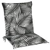 Beautissu Matelas Coussin pour Chaise Fauteuil de Jardin terrasse Tropic 100x50x6cm - Design Flower