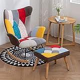 LLSS Chaise de Lecture de Loisirs Chaise à Bascule Chambre à Coucher Salon Patio Jardin Chaise Longue Sieste Chaise Longue Fauteuil à Dossier Fauteuil inclinabl