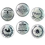 lot de 6 boutons vintage en porcelaine