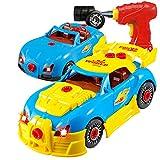 Think Gizmos Voiture de course à démonter - Jouet de construction - Voiture d'enfant pour les garçons et les filles - Cadeau d'enfant pour enfants de 3 - 8 ans - Version 3 exclusive renouvelée