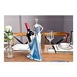 H-ei Personnalité créative rétro Salon Armoire à vin Meuble TV décoration de Bureau Porte-Bouteilles de vin (Color : Silver)