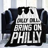 Dilly Dilly Apportez Une Couverture en Flanelle de Flanelle de Philadelphie Eagles de Philadelphie Couverture de lit Chaude Ultra-Douce légère Convient au canapé Convient