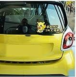 JIAQI Date Car Styling Cartoon Animal Pikachu Pokemon Bébé en Voiture Autocollants De Voiture Autocollants pour Peugeot Opel Chevrolet Volkswagen Kia Ford