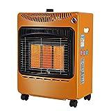 LXDDP Chauffage au gaz intérieur Chauffage au gaz Butane Chauffage d'hiver Portable, livré avec régulateur et Tuyau, 3 réglages Chaleur, Anti-Inclinaison (4.2Kw)