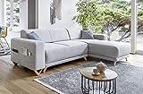 Bobochic - Bella - Canapé d'angle réversible Convertible - avec Coffre - 4 Places - Tissu