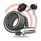 BEEPER - Antivol câble avec Alarme 110 DB - 120 cm avec Support AN-CAT120