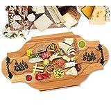 Planche à découper en bois avec motif forêt, planche à pain, planche à pain, cadeau de chasse personnalisé pour homme, idée de cadeau d'anniversaire et de fête, accessoire de chasse