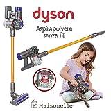 ODS- V8 Dyson 20800 Aspirateur Jouet pour Enfants Gris/Orange et Violet