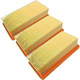 Lot de 3 filtres pour aspirateur Karcher 6.415-953.0 AD2 AD3 AD4 sans cadre en caoutchouc