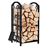Support de Bois de Chauffage Pays de roulement de cheminée avec cheminée Outils de foyer Ferres de bois de chauffage Titulaires de bois de bois d'intérieur Cheminée extérieur Cheminée à bois Heavy Dut