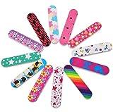 Lot de 20 mini limes à ongles colorées double face pour ongles des mains et des pieds