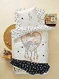 Vertbaudet Parure Housse de Couette + taie d'oreiller Enfant Attrape-Coeur imprimé Graphique 140X200 - TAIE 63X63