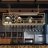 Casiers à bouteille Support de verre à vin suspendu sous étagère Casier à vin de plafond en métal verres à pied support en verre armoire de cuisine organisateur de rangement à l'envers verres boutei