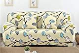 Vlejoy Housses de canapé 1/2/3/4 Places Housse de canapé Florale Spandex Moderne élastique Polyester Housse de canapé Housse Chaise Meubles Protecteur Salon-Couleur_14_4seater (235-300cm)