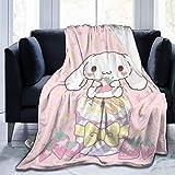 jichuang Cinn amoroll Fuzzy Blanket Couverture de Jet Ultra Douce Chaude et légère pour Couchage de canapé 50 'X60