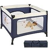 TecTake Parc pour Bébé Lit de Bébé Parapluie Pliant avec Sac de Transport - diverses couleurs au choix - (Bleu | No. 402205)
