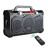 FEEE-ZC Radio de Chantier Portable sans Fil à Grande Puissance, Support de Haut-Parleur Bluetooth 30W Radio FM MIC TF AUX USB avec télécommande