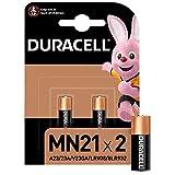 Duracell MN21 Pile Alcaline 12V, A23/23A/V23GA/LRV08/8LR932 pour Télécommandes, Sonnettes de Porte sans Fil/Systèmes de Sécurité, Noir/Copper - Pack de 2