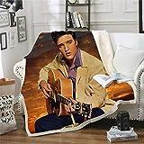 Amacigana Couverture Elvis Presley (Elvis Presley) - Quatre saisons - Pour canapé - Imprimé cartoon - Couverture douce - Couverture épaisse - 150 cm x 200 cm
