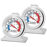 Herefun Thermomètre Réfrigérateur, Thermomètre Numérique Pour Tester le Réfrigérateur, Thermometre frigo, Thermomètre de Congélation, Petit Thermomètre Rond et Précis, Qualité de Sécurité