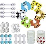 Lenbest 48 Pcs Kits Sécurité de Bébé Enfants, 8 Protège Coin, 24 Cache Prise, 6 verrous de sécurité pour, 4 verrous de tiroirs Ajustables