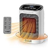 Gotoll Radiateur Soufflant Électrique avec Télécommande 2 en 1 Chauffage Ventilateur en Céramique PTC Oscillation Affichage LED 1500W Minuterie - Blanc