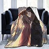 Adults Throw Blankets,Couvertures De Jet Unisexe FI-Nal Fan-Tasy VII-Zack Anime, Couverture De Canapé Durable pour Parents Adultes Intérieur Extérieur,127x153cm