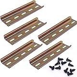Taiss/5 pièces Rail DIN en Acier de Couleur de Haute Qualité,Pour Armoire de Distribution Armoire de Commande,Largeur 35 mm,Hauteur 7.5 mm,Longueur 100 mm/4'-G