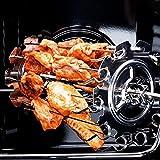 Kamenda Brochettes pour Barbecue, Barbecue Grille avec Tiges Vis Rotatives, 10 Fourchettes Panier de Friteuse Air Chaud