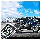 XINGFUQY Système d'alarme de Moto Anti-détournement à Deux Voies LCD avec capteur Micro-Ondes adapté à la Moto DC
