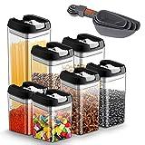 JOLVVN Lot de 7 boite hermetique alimentaire en plastique durable sans BPA boite conservation alimentaire, avec couvercles de verrouillage pour garder les aliments frais