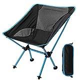 EXTSUD Chaise de Camping Pliante Portable Chaise de Pêche Compact Ultra-légère avec Sac de Transport pour Randonnée, Barbecue, Pique-Nique, Plage, Plein air, Max Charge 150 kg