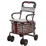 XIAOHE Chaise Longue Pliante Portable achats Panier de Petits Chariots de Traction de Voiture Peut accueillir Quatre Personnes
