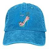 Gymini Princesses are Born in August Chapeaux de baseball en coton lavable réglable pour homme et femme Bleu