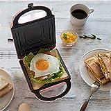 Fabricant de gaufres anti-débordement avec plaques antiadhésifs Cool Touch Poignée et contrôle de la température pour le petit-déjeuner, le déjeuner ou des collations fangkai77