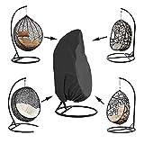 Queta Housse de Fauteuil Suspendu Jardin Rotin Osier Fauteuil Suspendu Imperméable Housse Housse de Protection pour œufs Chaise résistant à l'eau et à la poussière - 190 X115cm (Noir)