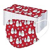 YUYOUG 10/20/50/100 PC Enfants Noël Imprimé 𝐌𝐀𝐒𝐐𝐔𝐄 F𝐚ci𝐚l 𝐉𝙚𝐭𝐚𝐛𝐥𝐞 avec 3 plis industri𝙚ls, R𝙚spirant Coup𝙚-vent Confortable Noël Thème de Noël Fac𝙚_M𝐚sk pour la Extérieur Activités
