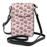 Lsjuee Sac à main en cuir pour téléphone, grille-pain de cuisine petit sac à bandoulière mini pochette pour téléphone portable sac à bandoulière pour femmes