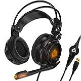 KLIM Puma - Micro Casque Gamer - Son 7.1 - Audio Très Haute Qualité - Casque PS5 avec Vibrations Intégrées - Confortable - Parfait pour Gaming PC et PS4 PS5 - Nouvelle Version 2021 - Noir