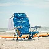 TECNOVOZ Tommy Bahamas 2000998 Chaise de Plage Pliante avec poignées Bleu mosaïque