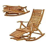 Fauteuils inclinables Feifei Chaise Longue en Bambou Réglable en Bois Extérieur Transats Pliante Chaise Longue Chaise Siesta Garden Patio Beach Chair Portable