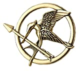 Tanami Store - Accessoires pour cheveux - Broche Hunger Games en bronze - Réplique de Katniss - Flèche d'oiseau - Cadeau pour femmes et filles.