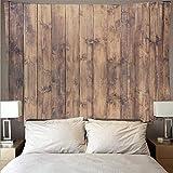 Planche de bois texture art tapisserie psychédélique tenture murale hippie serviette de plage mince couverture fond tissu tapisserie A5 73x95 cm