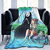XCNGG Couverture Spirited Away Soft and Comfortable Flannel Blanket Sofa Bed Cover Blanket Warm Air Conditioning Quilt 60' x50
