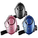 Alarme personnelle d'urgence [3 Pack] Qoosea Scream Safesound Alarme de sécurité 140dB LED Lampe de Poche pour Enfants Femmes Personnes