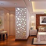 Beautyjourney Stickers Muraux 3D,12Pcs 3D Miroir Amovible Wall Sticker Vinyle Autocollant Maison Decor Art Bricolage (Argent)