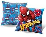 SRV Hub® Coussin sous licence pour enfants avec rembourrage en polyester utilisable pour les filles et les garçons avec personnage de Disney peint Spiderman (40 cm x 40 cm)