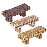 LAOLEE 1 chaise rétro miniatures pour décoration de maison (couleur aléatoire) en mousse